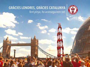 La Colla Joves a Londres pel dret a decidir