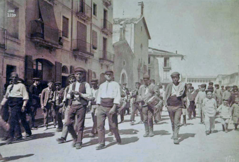 Arribada dels Xiquets de Valls a Vilafranca